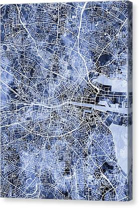 Dublin Ireland City Map Canvas Print