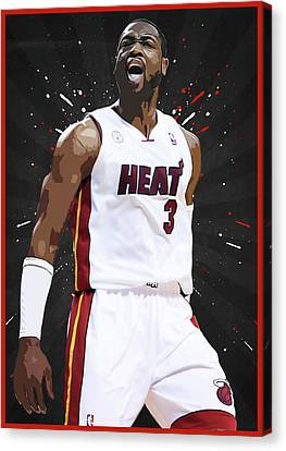 Chicago Bulls Canvas Print - Dwyane Wade by Semih Yurdabak