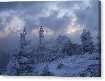 East Quoddy Lighthouse 36 Below Canvas Print by Don Dunbar