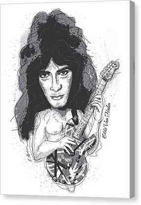 Eddie Van Halen Canvas Print by Gary Bodnar
