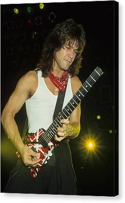 Eddie Van Halen Canvas Print by Rich Fuscia