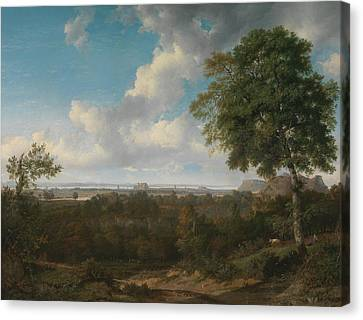 Edinburgh From The Braids Canvas Print by Patrick Nasmyth
