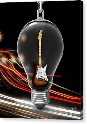 Electric Fender Stratocaster Collection Canvas Print by Marvin Blaine
