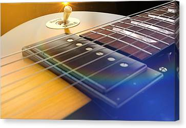 Electric Guitar Abstract Canvas Print by Allan Swart