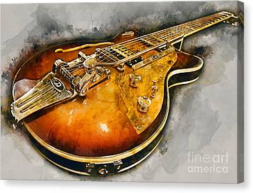 Sound Canvas Print - Electric Guitar by Ian Mitchell