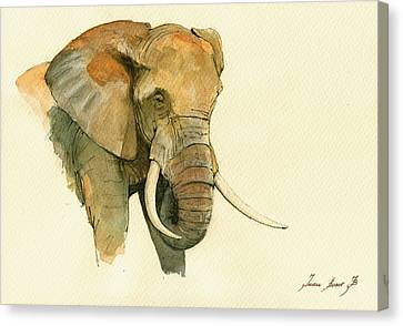 Elephant Painting           Canvas Print by Juan  Bosco