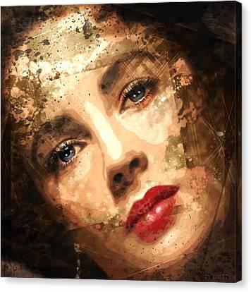 Elizabeth Rosemond Taylor - Memories -  Canvas Print