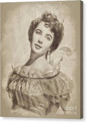Elizabeth Taylor, Vintage Hollywood Legend By John Springfield Canvas Print