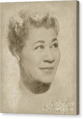Ella Fitzgerald Singer Canvas Print by Frank Falcon
