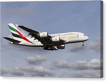 Emirates A380 Airbus Canvas Print