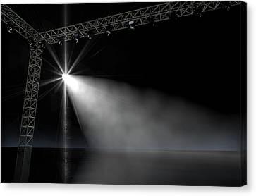 Empty Stage Spotlit Canvas Print