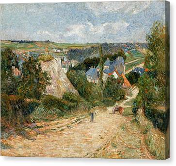 Entrance To The Village Of Osny Canvas Print by Paul Gauguin