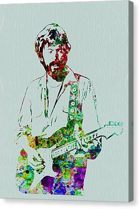 Eric Clapton Canvas Print by Naxart Studio