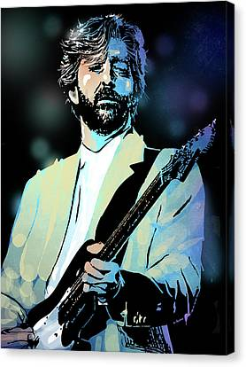 Eric Clapton Canvas Print by Paul Sachtleben