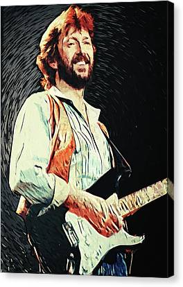 Santana Canvas Print - Eric Clapton by Taylan Apukovska