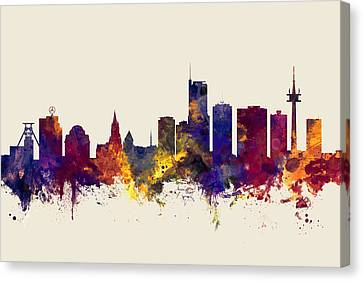 North Germany Canvas Print - Essen Germany Skyline by Michael Tompsett