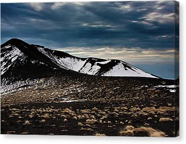 Etna, Red Mount Crater Canvas Print by Bruno Spagnolo