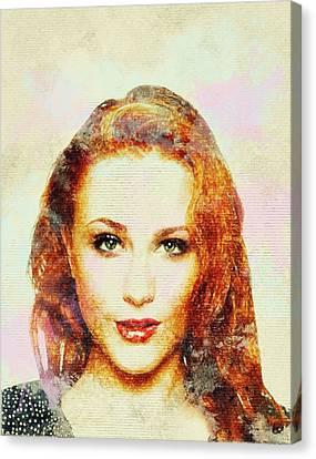 Evan Rachel Wood Art Canvas Print