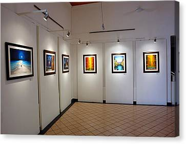 Exhibition Cozumel Museum Canvas Print by Angel Ortiz