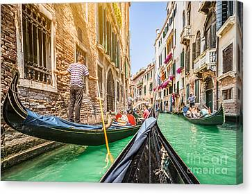 Exploring Venice Canvas Print by JR Photography
