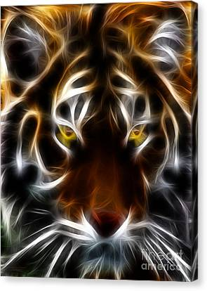 The Tiger Canvas Print - Eye Of The Tiger by Wingsdomain Art and Photography