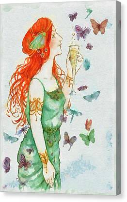 Fairy Canvas Print by Sarah Kirk