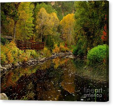Fall In The Rocky Mountains Canvas Print by Marilyn Magee