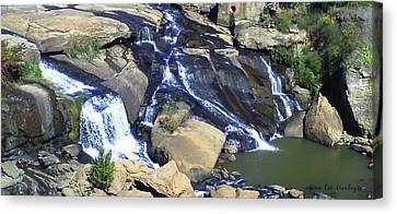 Falls Park Canvas Print by Gina Lee Manley