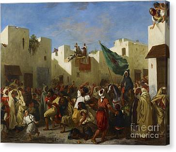 Fanatics Of Tangier Canvas Print by MotionAge Designs