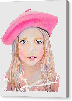 Fayanna Little French Angel Of Trust Canvas Print by The Art With A Heart By Charlotte Phillips