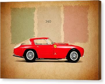 Ferrari 340 Canvas Print by Mark Rogan