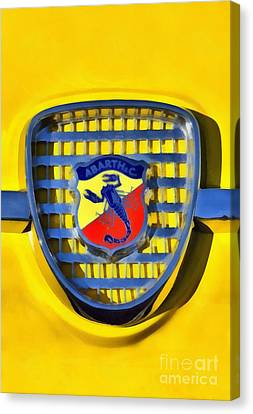 Fiat Abarth Badge Canvas Print by George Atsametakis