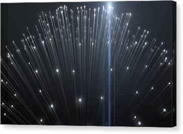 Fiber Optics Close Canvas Print