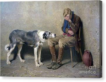 Briton Riviere Canvas Print - Fidelity by MotionAge Designs