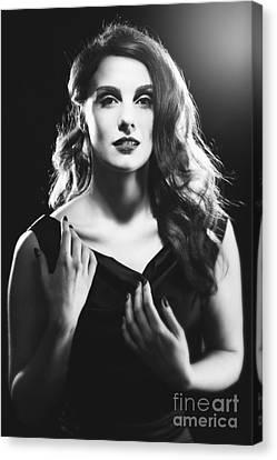 Film Noir Woman Canvas Print
