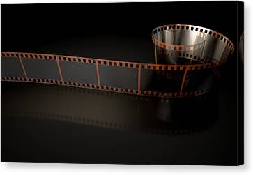 Film Strip Curled Canvas Print by Allan Swart