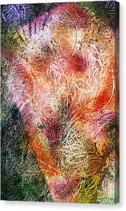 Fire In The Forest Canvas Print by Sue Reed