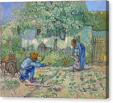 First Steps, After Millet Canvas Print by Vincent van Gogh