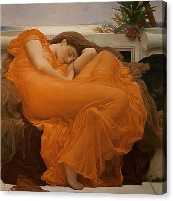 Flaming June Canvas Print by Frederic Leighton