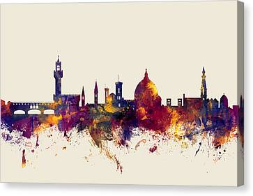 Florence Italy Skyline Canvas Print by Michael Tompsett