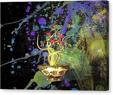 Louis Ferreira Art Canvas Print - Flower Abstract by Louis Ferreira