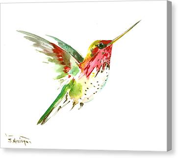 Hummingbird Canvas Print - Flying Hummingbird by Suren Nersisyan