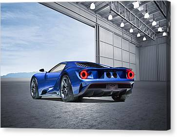 Ford Gt Canvas Print by Peter Chilelli