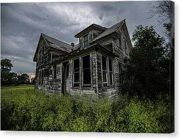 Abandoned Houses Canvas Print - Forgotten by Aaron J Groen