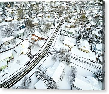 Fort Collins Winter Cityscape Canvas Print