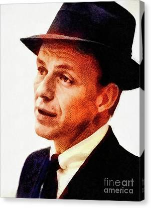 Frank Sinatra Canvas Print - Frank Sinatra, Vintage Hollywood Legend by John Springfield