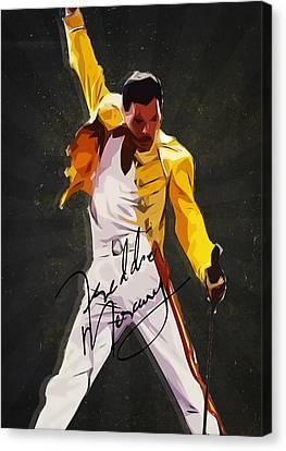 Freddie Mercury Canvas Print by Semih Yurdabak
