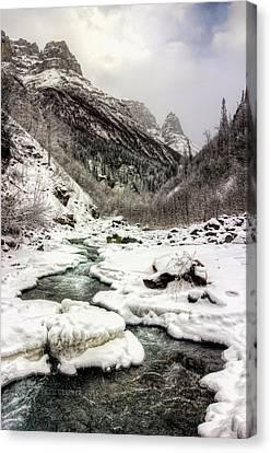 Freeze-up At Dan Creek Canvas Print