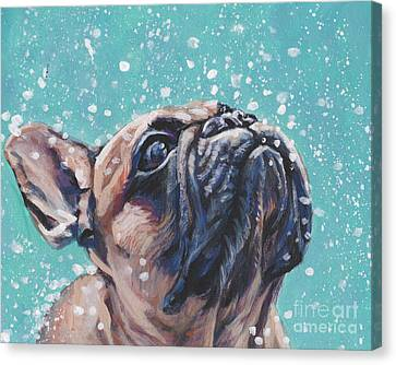 Canvas Print featuring the painting French Bulldog by Lee Ann Shepard