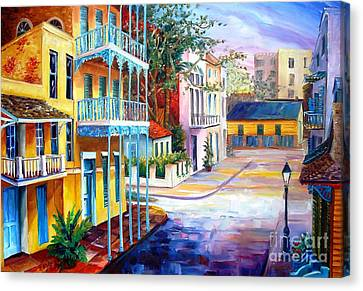 French Quarter Sunrise Canvas Print by Diane Millsap